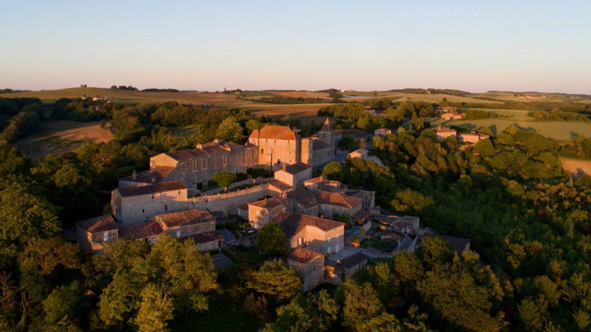 Vue aérienne de Gramont